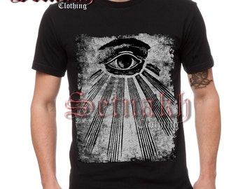 Occult men's T-shirt - ALL SEEING EYE T-shirt - Eye of Providence T-shirt - illuminati - masonic - occult clothing #TS1