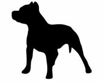 Pitbull silhouette etsy for Pitbull mom af shirt