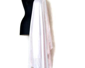 Light Pink Shawl, Icy Pink Wedding Shawl, Luxury Pashmina,  Gift Scarf, Elegant  Wrap, Bridal Wrapr, Christmas Gift For Her, Brooch Pin