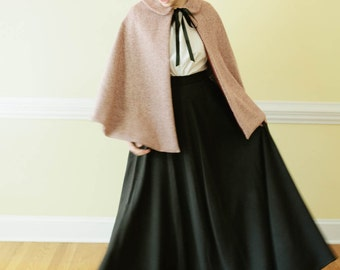 Wool Cape - Plain Cape Outerwear - Marilla's Apparel - Made to Measure Cape Coat - Cotton Nursing Cover up - Amish Mennonite Play Cos