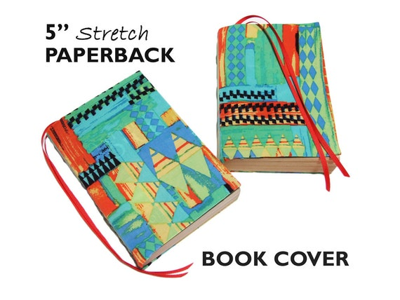 Cloth Book Covers For Sale ~ Stretch paperback book cover triangles trade by