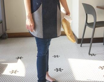 Women's Apron -  Hailey Denim Half Apron w/ pockets