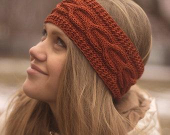 Knitted Headband, Ear Warmer, Cable headband, Hair Band, Turban, Chunky Headband, Head wrap, Hair Accessories, LoveKnittings