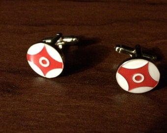 Kyokushin Kanku Cufflinks - Diestruck Enamel - the perfect holiday gift!