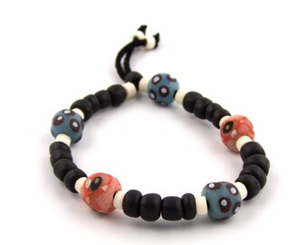 Funky Trade Bead Bracelet- Made by TK