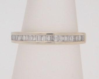 0.33 Carat T.W. Ladies Baguette Cut Diamond Band 14K White Gold Ring