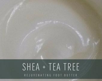 Shea + Tea Tree Foot Creme, Rejuvenating Foot Butter