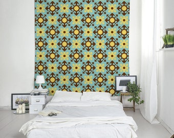 Dorm Tapestry, Wall Decoration, Barcelona Style, Tile Tapestries, Dorm Wall  Art, Part 63
