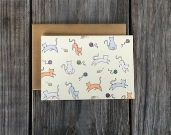 Cat Cards, Cat Card Set, Animal Note Card Set