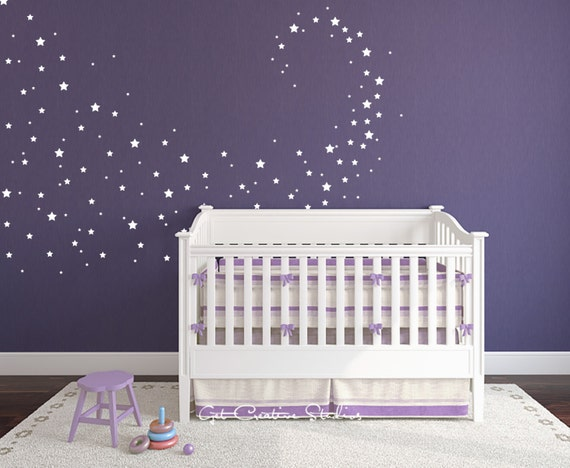 baby nursery decals star confetti wall decals stickers for baby room