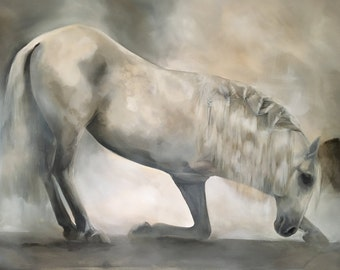 Horse Painting - Circus Horse Taking A Bow