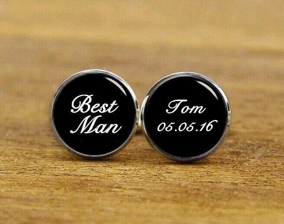 Best man cuff links, groom cuff links, groomsman cuff links, bridesman cuff links, custom wedding cufflinks, gifts for wedding, wedding gift