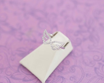 Mommy of an Angel Ring - Angel Baby - Miscarriage - Remembrance - Memorial Jewelry - Sterling Silver - Engraved Jewelry