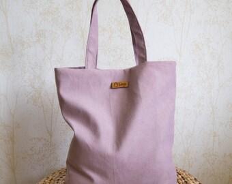 Everyday tote bag / oversized bag / casual bag / shoulder bag / velour bag / lavender color