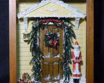 Miniature Roombox - Christmas in the City -  Handcrafted by Lillie Thompson