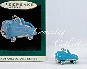 1995 Hallmark Kiddie Car Classics Murray Champion Ornament Keepsake Christmas Peddle Car Christmas Vintage Metal