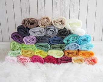 Set of 3 Newborn Cheesecloth Wraps, Baby Wraps, Maternity Cheesecloth Wraps