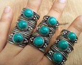 Tibet Ring - Turquoise Ring - Gypsy Jewelry - Unisex
