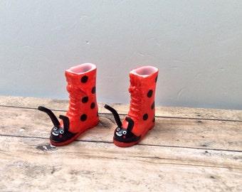 Blythe Boots - Ladybugs