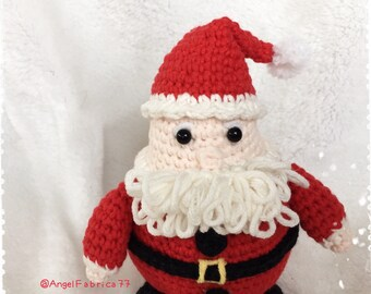 Crochet Santa Claus Decoration, Santa Claus Amigurumi, Christmas Doll Toy, Holiday Home Decoration, Free shipping United States