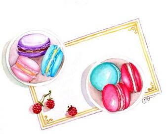 Macarons Spread Watercolor Original