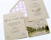 Woodland Wedding Invitation, Wedding Invitation Woodland, Rustic Wedding Invitation, Wedding Invite Rustic, Forest Wedding Invite, Floral