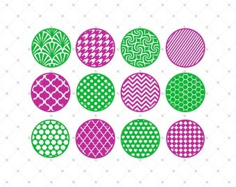 Patterned Circle SVG Cut Files, Background SVG Cut Files for Cricut, Silhouette and other Vinyl Cutters, svg cut files