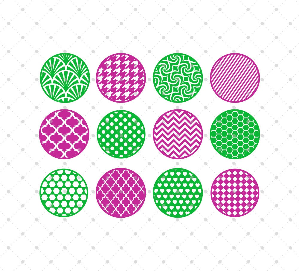 Patterned Circle Svg Cut Files Background Svg Cut Files For