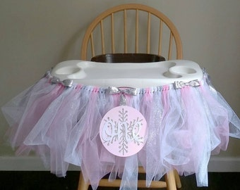 First Birthday Highchair Tutu - Winter Onederland - High Chair Banner