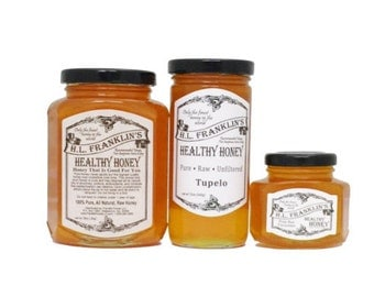 Pure, Raw, Unfiltered Tupelo Honey - Never Heated or Processed - H.L. Franklin's Healthy Honey