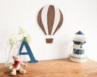 Air Balloon Wall Art. Wooden Nursery Art. Kids Room Wall decor, Wall Hanging, Kids Gift, Baby Room Decor, Wooden Sign