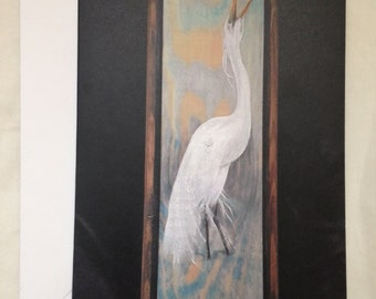 Four Egret Greeting or Note Cards -