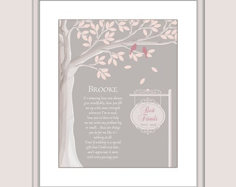 Friend Gift - Friend Print - Best Friends - Poem for Friends - Personalized Friend Gift - Xmas Gift For Friends Christmas Gift