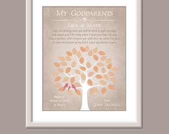 Personalized Godparent Gift - Baptism Gift For Godparents - Gift From Godchild - Godparents Poem - Godparents Verse - Godmother Godfather