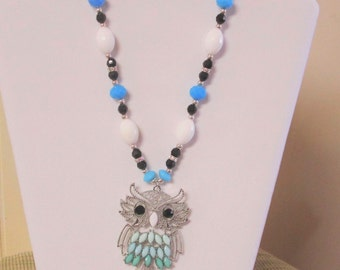 Tourquoise Owl Necklace