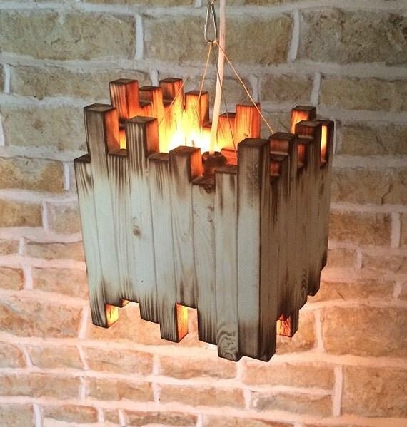 Wood Light Fixture Rustic Ceiling Light Rustic Light Unusual