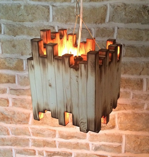 Wood Light Fixture Rustic Ceiling Light Rustic Light