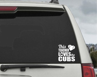 Chicago Cubs Etsy - Window stickers for cars chicago