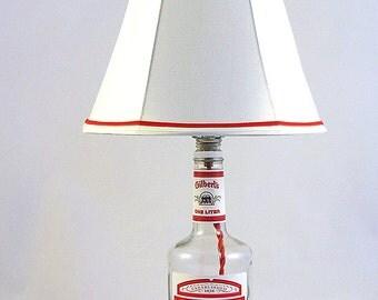 Gilbert's Recycled Liquor Bottle Lamp