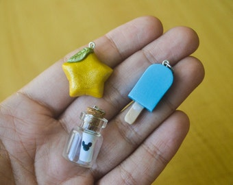 Kingdom Hearts Paopu Fruit and Sea Salt Ice Cream pendant
