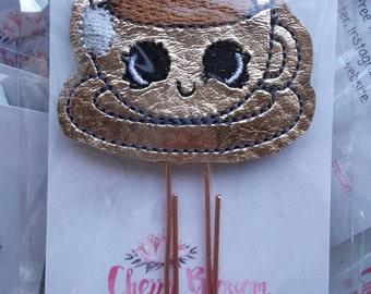 Happy Kawaii Tea Paper Clip Rose Gold