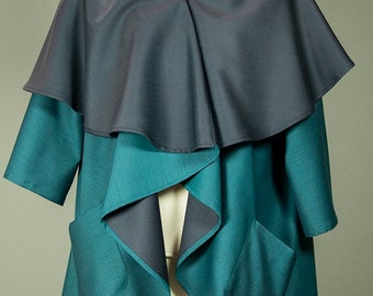 Original Teal Wool Circle Wrap