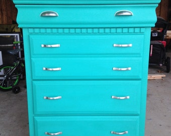 SOLD - Vintage Highboy Dresser / Florence / Chalk Paint / Annie Sloan