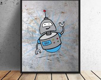 Robot #004 Print - Instant download