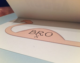 Brother Muscle Birthday Card