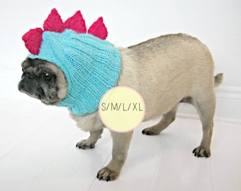 Custom Dinosaur Dog Hat / Puppy hat / xl dog clothes / Medium dog clothes / Small dog clothes / Pug clothes / Pug hat / Puppy clothes / Pugs