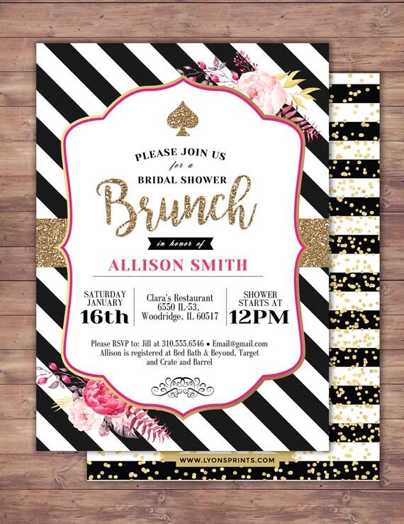 spade invitation bridal shower invitation brunch invite sweet 16