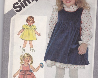 Vintage Simplicity 5734 in size 4 for girls dress, sundress or pinafore