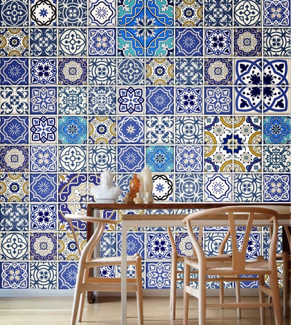 Talavera traditional tiles tile decal kitchen tiles for Kitchen tile decals