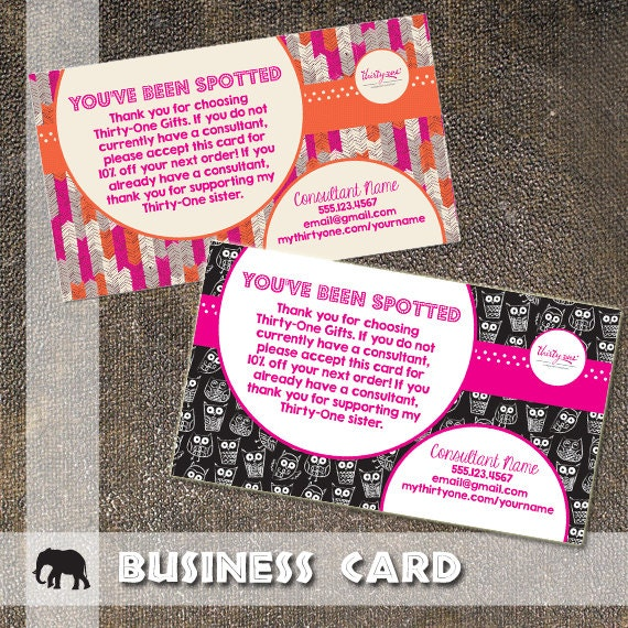 Items similar to Thirty e Business Card You Have Been